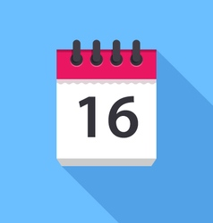 Calendar icon flat design vector