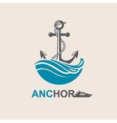 Anchor symbol image vector