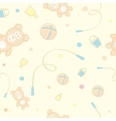 Children Teddy Bear Pattern vector image