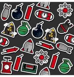 Colored Bomb icons pattern vector image