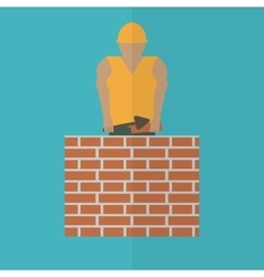 Construction worker flat icon editable and design vector
