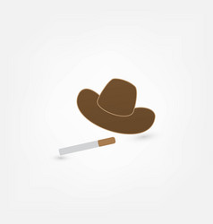 cowboy smoking vector image