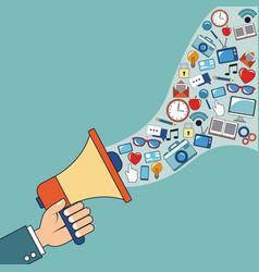 digital marketing speaker network image vector image