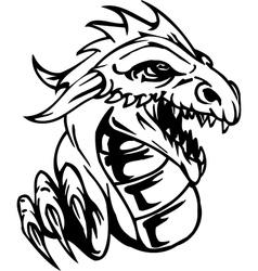 dragon - halloween set - vector image vector image