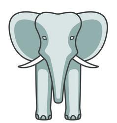 Elephant face icon vector