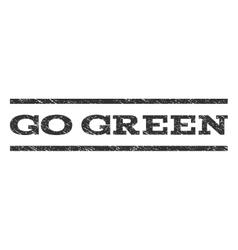 Go green watermark stamp vector