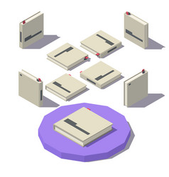 Isometric square book vector