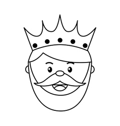King wizard icon epiphany isolated design vector