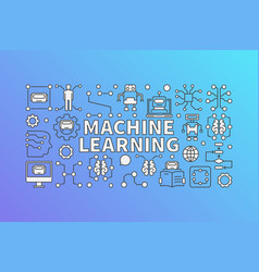 Machine learning banner or vector