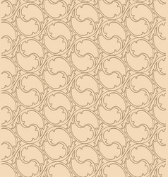 oriental line pattern abstract floral ornament vector image vector image