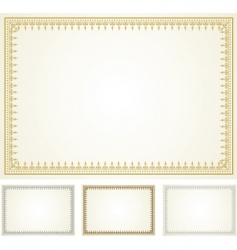 ornate frame set vector image