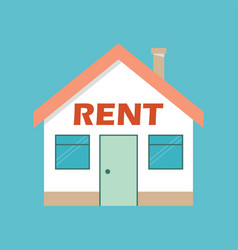 Real estate rent concept rent house vector