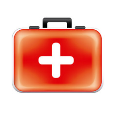 red suitcaise medicine tools icon vector image