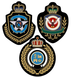 Royal military badge vector