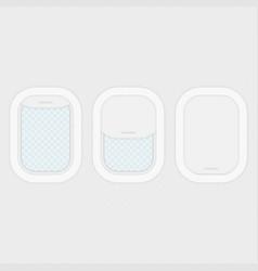 Set of aircraft windows vector