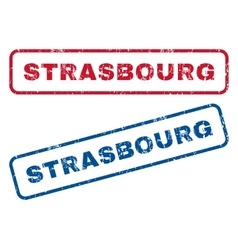 Strasbourg Rubber Stamps vector image vector image