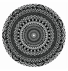 Tribal folk aztec geometric pattern in vector