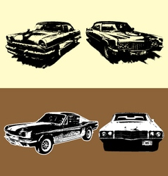 VINTAGE CARS vector image