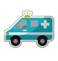 Ambulance vehicle icon vector