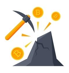 Bitcoin Mining Icon vector image