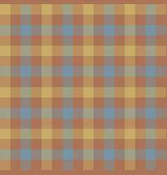 Brown beige check tablecloth seamless pattern vector