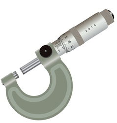 micrometer isolated on a white background vector image