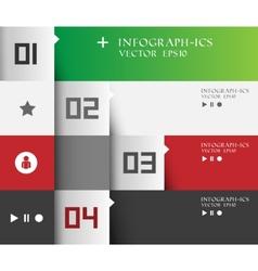 Modern business step options banner vector