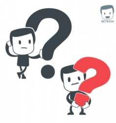 Question icon man set vector