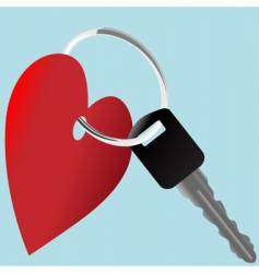 Heart icon and car vector