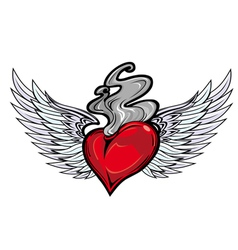 tattoo heart vector image