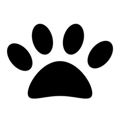Animal paw print vector