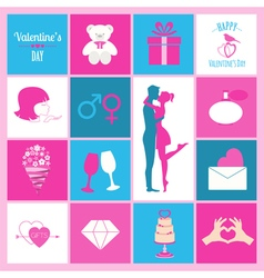 Valentines day infographic flat style love graphic vector