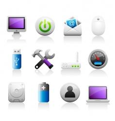 Titaniun computer icons vector