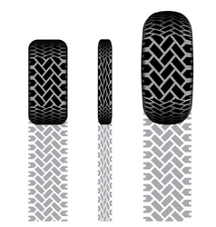 Tire track set 7 vector