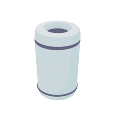 Grey outdoor bin icon cartoon style vector