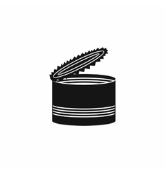 Open tin can icon simple style vector