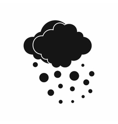 Cloud with hail icon simple style vector
