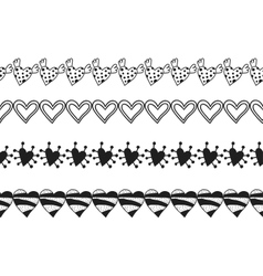 Black and white decorative ornament seamless vector image