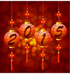 Chinese new year lanterns 2015 vector