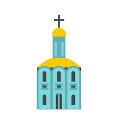Church icon flat vector image vector image
