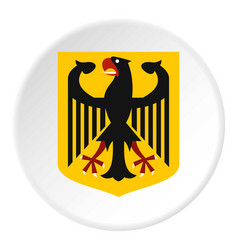 Coat of arms of germany icon circle vector