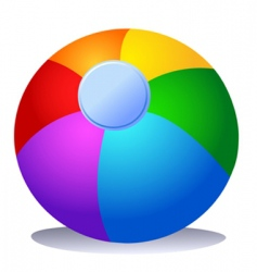 colorful beach ball vector image vector image