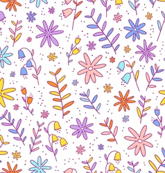 Colorful flowers pattern vector