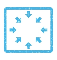 Compact arrows icon rubber stamp vector