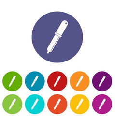 crayons icons set flat vector image