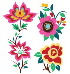 Creative flower set vector