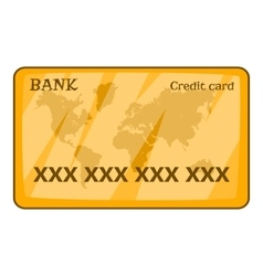 Credit card icon cartoon style vector