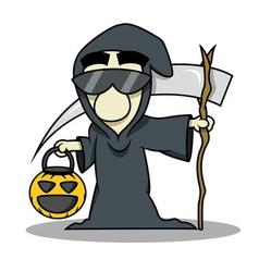 Death reaper halloween costume vector