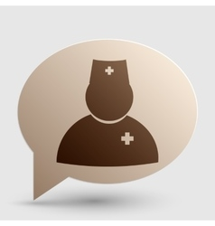 Doctor sign Brown gradient icon on vector image vector image