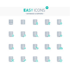Easy icons 23e database vector